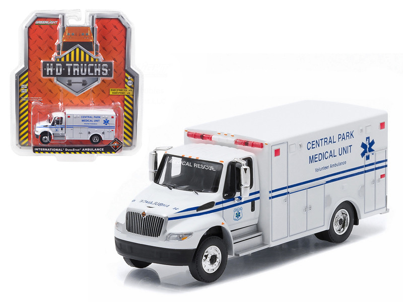 2013 International Durastar Ambulance Central Park Medical Unit Manhattan New York City Truck HD Trucks Series 4 1/64 Diecast Model Greenlight 33040 A