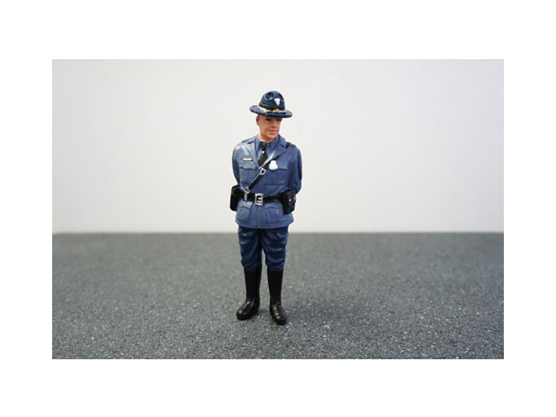 State Trooper Craig Figure For 1:18 Diecast Model Cars by American Diorama