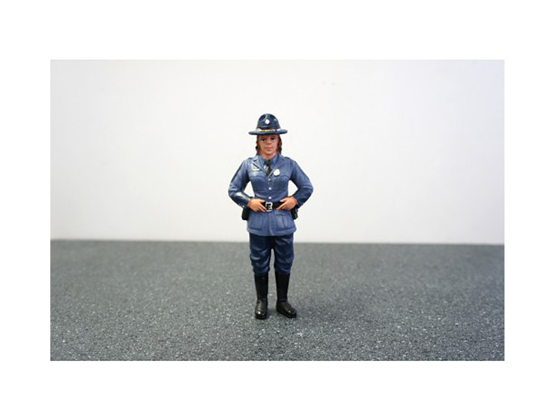 State Trooper Sharon Figure For 1:18 Diecast Model Cars by American Diorama