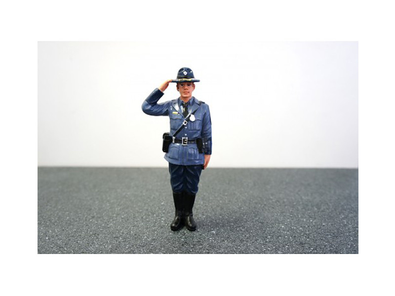 State Trooper Brian Figure For 1:18 Diecast Model Cars by American Diorama