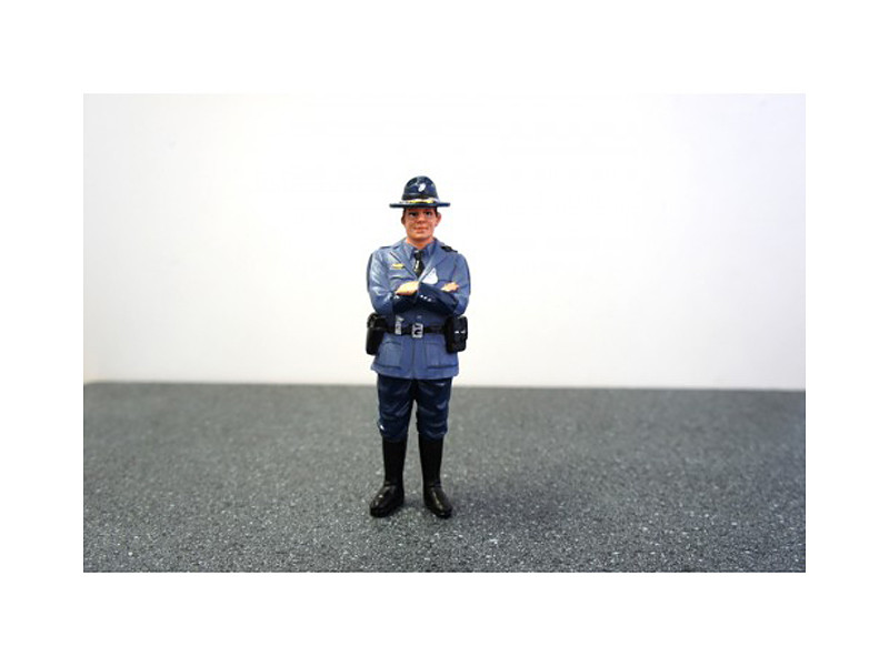 State Trooper Tim Figure For 1:24 Diecast Model Cars by American Diorama