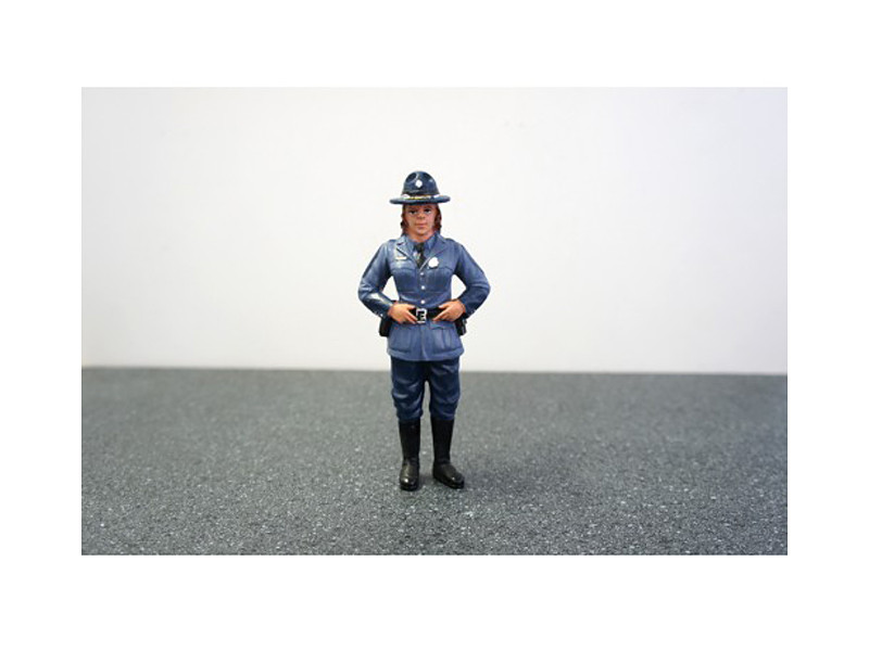 State Trooper Sharon Figure For 1:24 Diecast Model Cars by American Diorama
