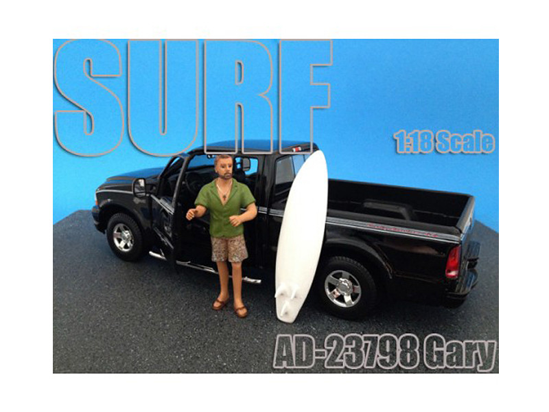 Surfer Gary Figure For 1:18 Diecast Model Cars by American Diorama