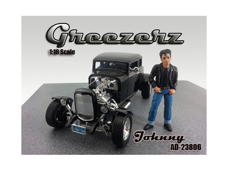 Greezerz Johnny Figure For 1:18 Diecast Model Cars by American Diorama