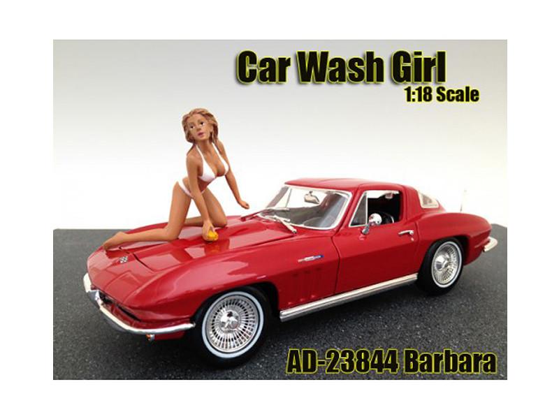 Car Wash Girl Barbara Figure For 1:18 Scale Models American Diorama 23844