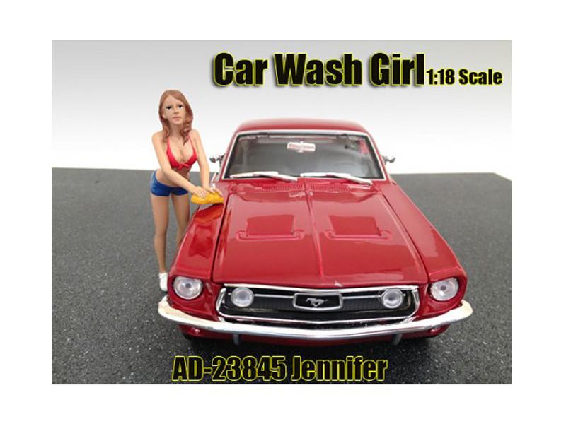 Car Wash Girl Jennifer Figure For 1:18 Scale Models American Diorama 23845