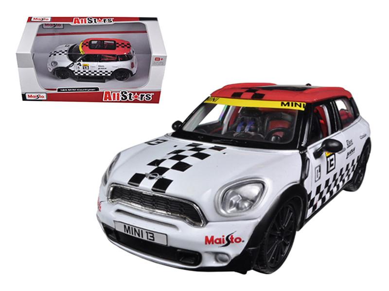 Mini Cooper Coutryman White #13 1/24 Diecast Car Model Maisto 31367