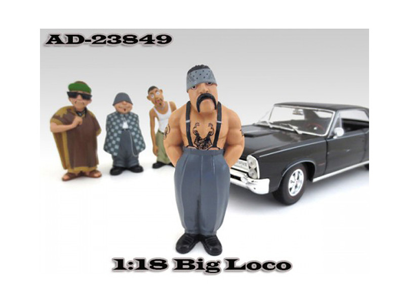 "Big Loco ""Homies"" Figure For 1:18 Diecast Model Cars American Diorama 23849"