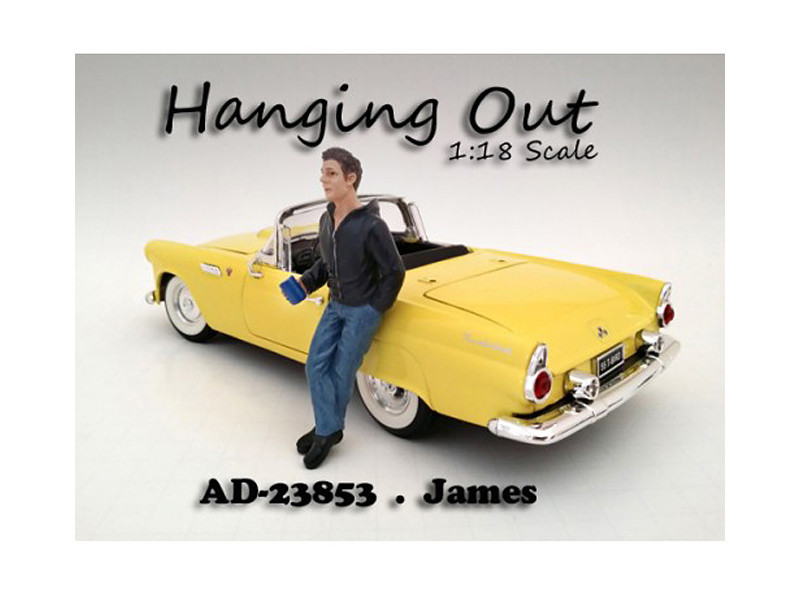 """Hanging Out"" James Figure For 1:18 Scale Models American Diorama 23853"