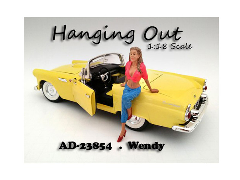 """Hanging Out"" Wendy Figure For 1:18 Scale Models American Diorama 23854"