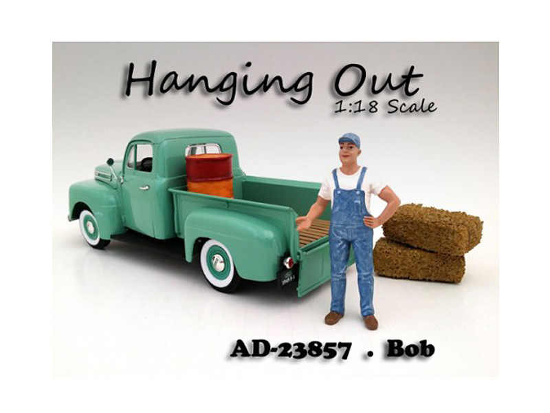 """Hanging Out"" Bob Figure For 1:18 Scale Models American Diorama 23857"