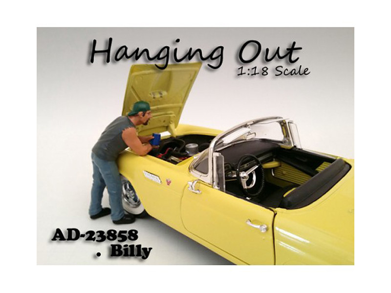 """Hanging Out"" Billy Figure For 1:18 Scale Models American Diorama 23858"