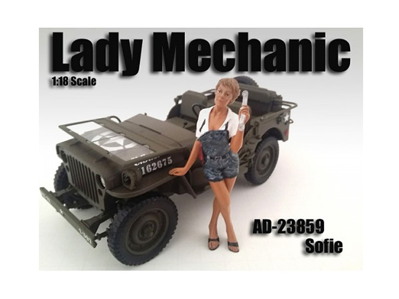 Lady Mechanic Sofie Figure For 1:18 Scale Models American Diorama 23859