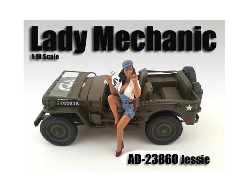 Lady Mechanic Jessie Figure For 1:18 Scale Models American Diorama 23860