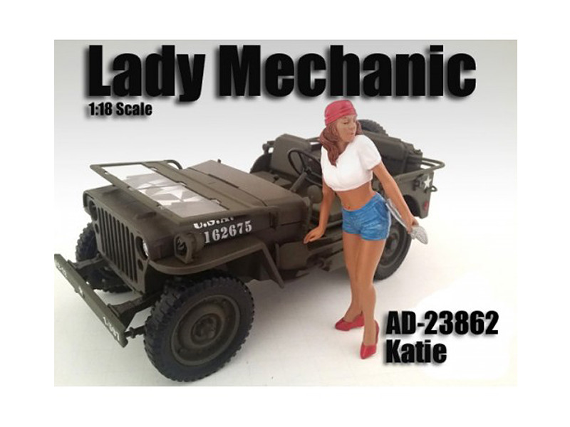 Lady Mechanic Katie Figure For 1:18 Scale Models American Diorama 23862