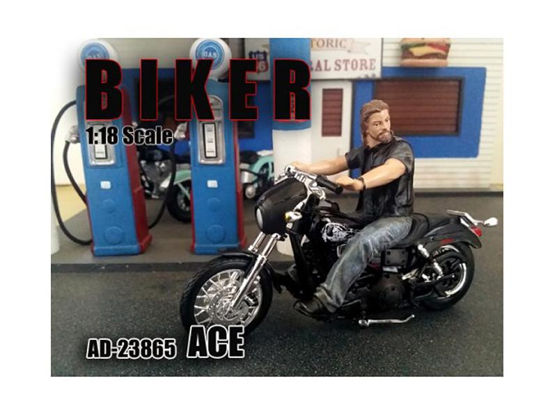 Biker Ace Figure For 1:18 Scale Models American Diorama 23865