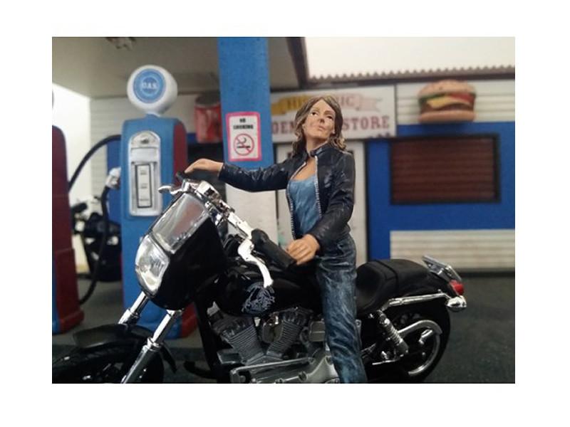 Biker Angel Figure For 1:18 Scale Models American Diorama 23868