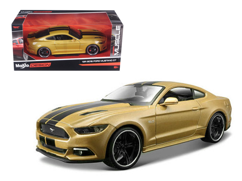 "2015 Ford Mustang GT Gold ""Classic Muscle"" 1/24 Diecast Model Car Maisto 31369"