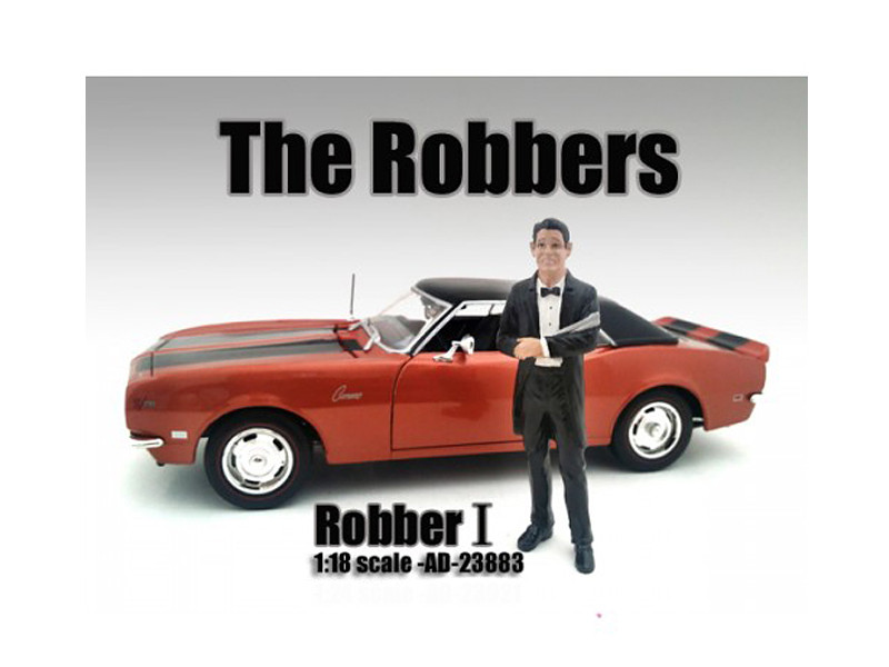 """""""The Robbers"""" Robber I Figure For 1:18 Scale Models American Diorama 23883"""