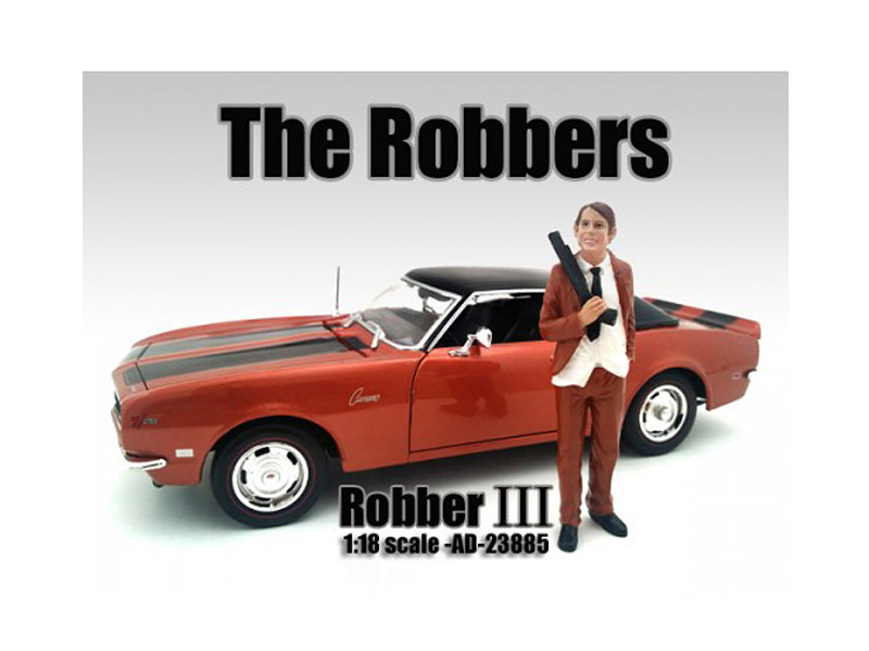 """""""The Robbers"""" Robber III Figure For 1:18 Scale Models American Diorama 23885"""