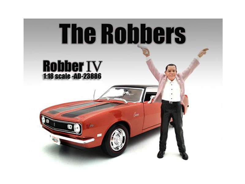 """The Robbers"" Robber IV Figure For 1:18 Scale Models American Diorama 23886"
