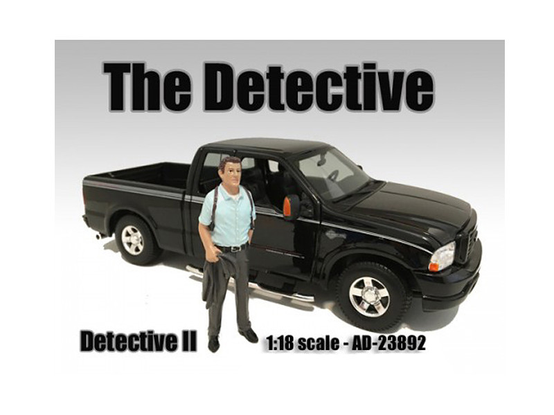 """The Detective #2"" Figure For 1:18 Scale Models American Diorama 23892"