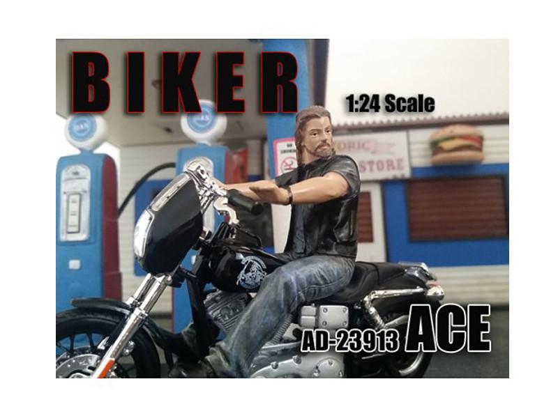 Biker Ace Figure For 1:24 Scale Models American Diorama 23913