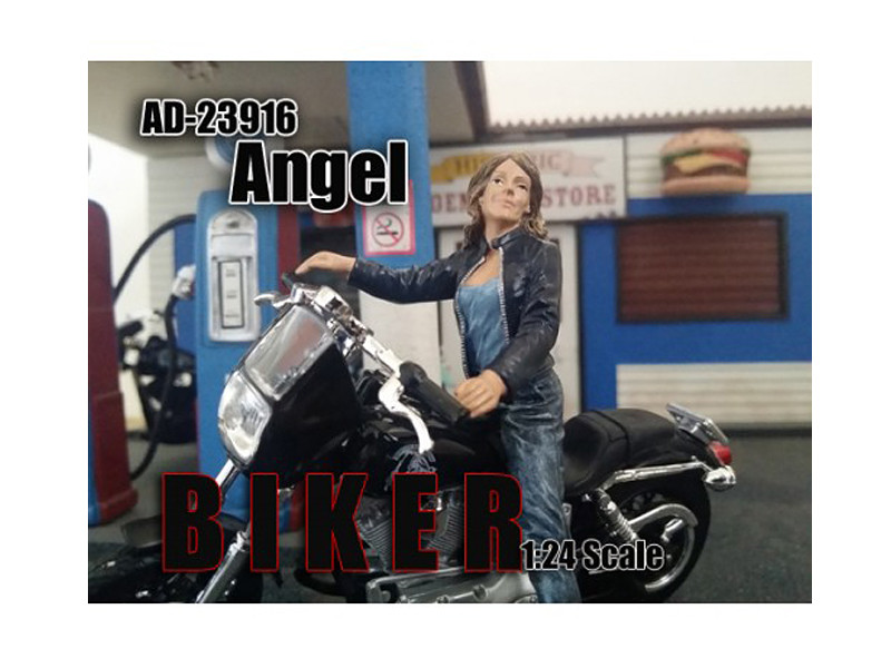 Biker Angel Figure For 1:24 Scale Models American Diorama 23916