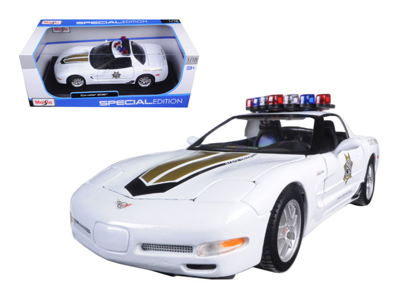 Chevrolet Corvette C5 Z06 Police 1/18 Diecast Model Car Maisto 31383