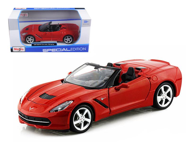 2014 Chevrolet Corvette C7 Convertible Metallic Red 1/24 Diecast Model Car Maisto 31501