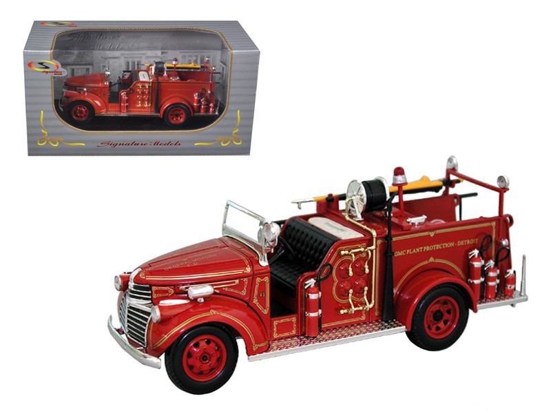 1941 GMC Fire Engine Truck Red 1/32 Diecast Model Car Signature Models 32348
