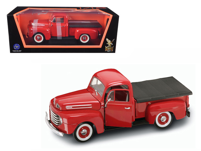1948 Ford F1 Pickup Truck Red 1/18 Diecast Model Car Road Signature 92218