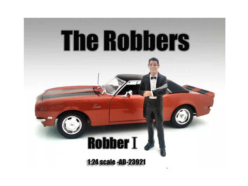 """The Robbers"" Robber I Figure For 1:24 Scale Models American Diorama 23921"