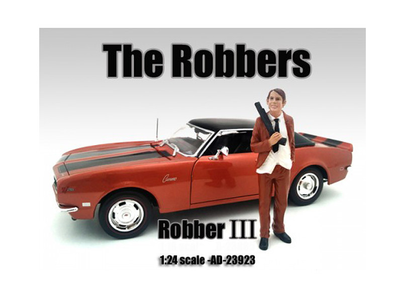 """""""The Robbers"""" Robber III Figure For 1:24 Scale Models American Diorama 23923"""
