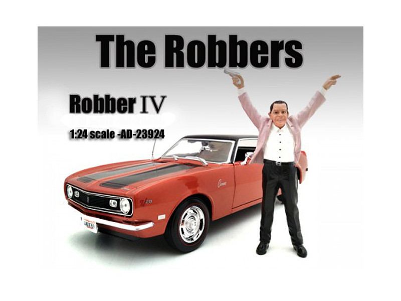"""The Robbers"" Robber IV Figure For 1:24 Scale Models American Diorama 23924"