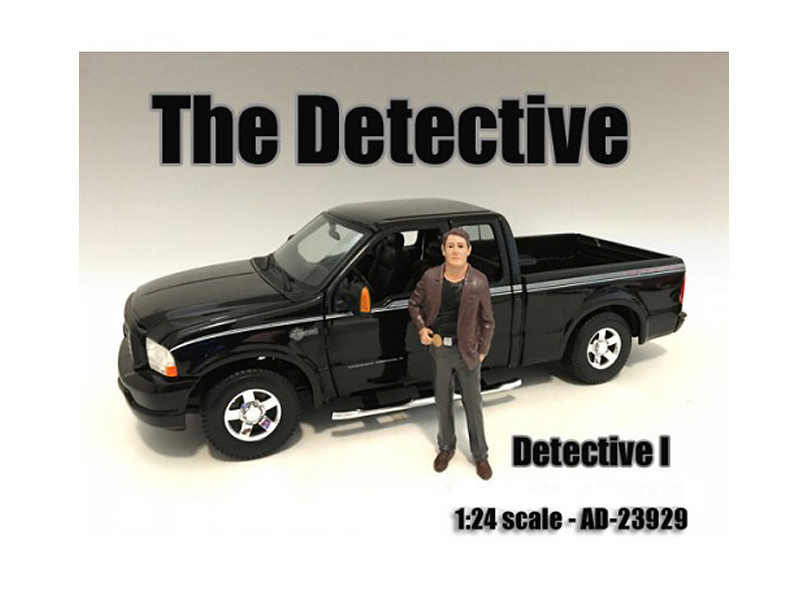 """The Detective #1"" Figure For 1:24 Scale Models American Diorama 23929"