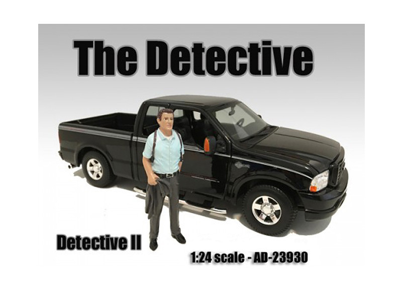 """The Detective #2"" Figure For 1:24 Scale Models American Diorama 23930"