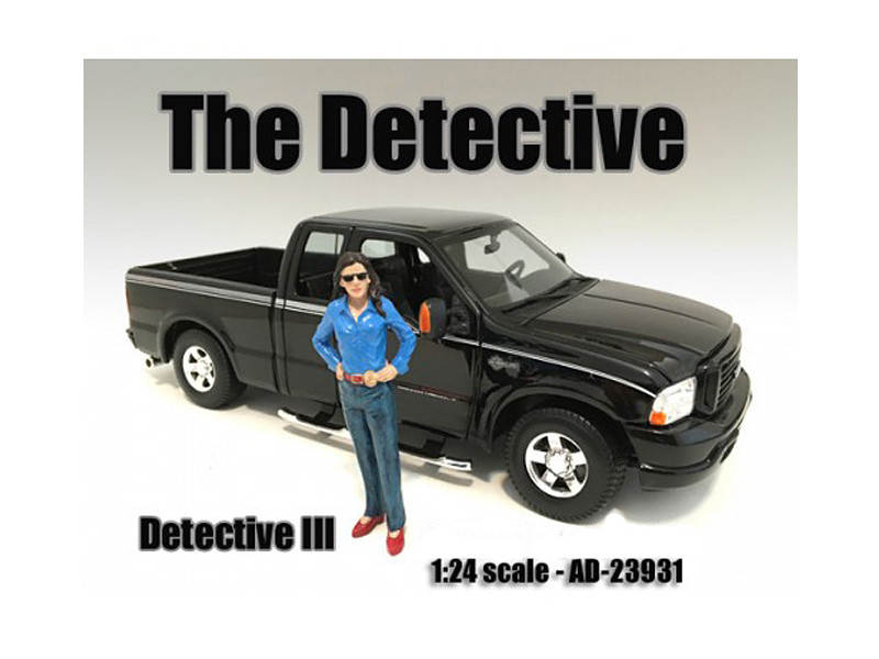 """The Detective #3"" Figure For 1:24 Scale Models American Diorama 23931"
