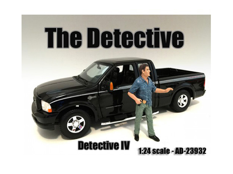 """The Detective #4"" Figure For 1:24 Scale Models American Diorama 23932"
