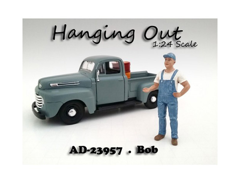 """Hanging Out"" Bob Figure For 1:24 Scale Models American Diorama 23957"