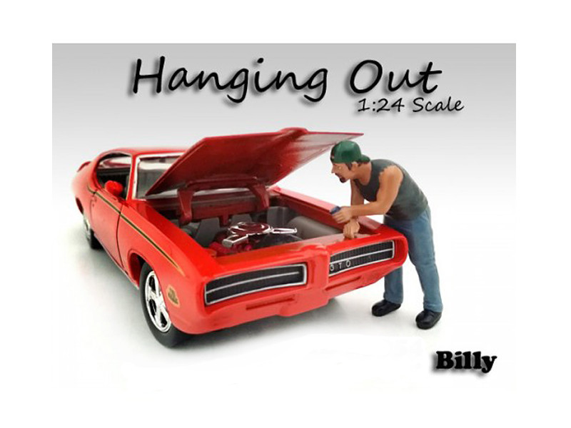 Hanging Out Billy Figure 1/24 Scale Models American Diorama 23958