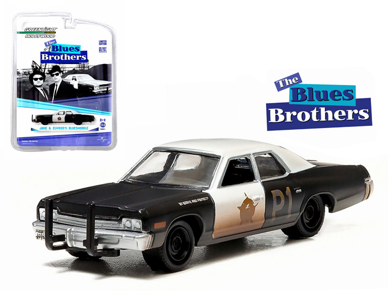 dfed48a0 1974 Dodge Monaco Bluesmobile The Blues Brothers (1980) 1/64 Diecast Model  Car