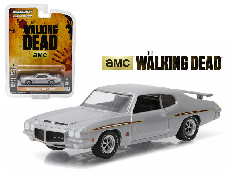 "1971 Pontiac GTO Silver ""The Walking Dead"" TV Series Episode 1.01 (2010-2015) 1/64 Diecast Model Car Greenlight 44730E"