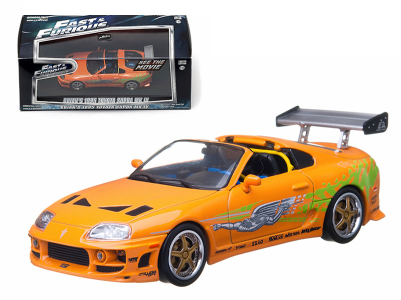 "Brian's 1995 Toyota Supra MK 4 ""The Fast and The Furious"" Movie (2001) 1/43 Diecast Model Car Greenlight GL86202"