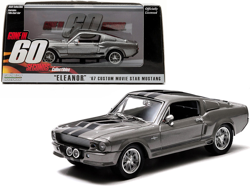 1967 Ford Shelby Mustang GT500 Eleanor Gone in Sixty Seconds 2000 Movie 1/43 Diecast Model Car Greenlight 86411