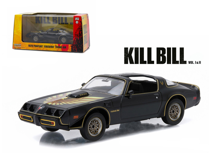 "1979 Pontiac Firebird Trans AM ""Kill Bill Vol. 2"" Movie (2004) 1/43 Diecast Model Car Greenlight 86452"