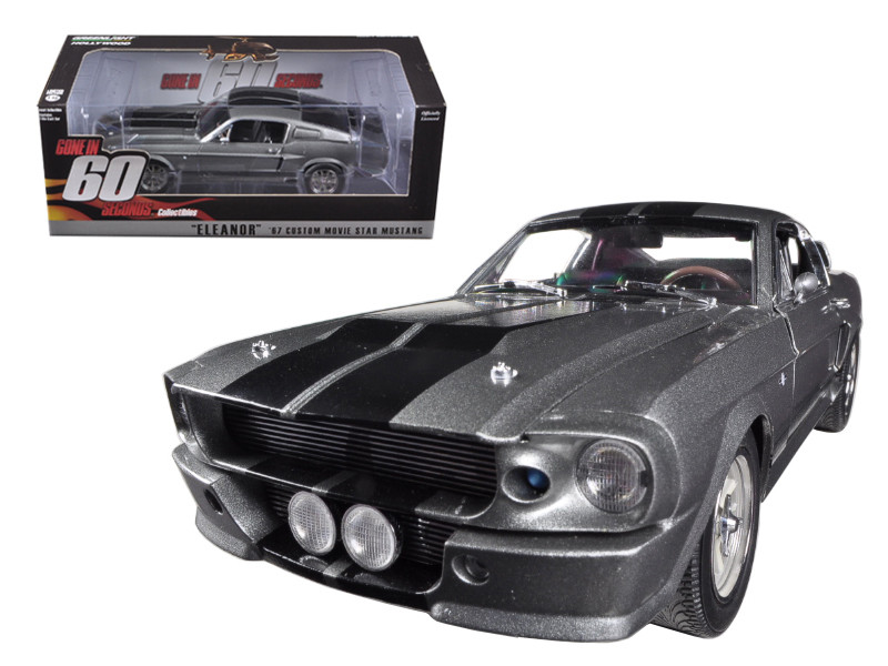 1967 Ford Mustang Custom Eleanor Gone in 60 Seconds Movie 2000 1/18 Diecast Car Model Greenlight 12909