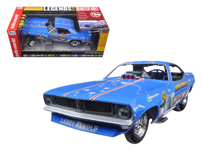 Larry Arnold\'s King Fish 1970\'s Plymouth Cuda Funny Car Limited Edition to 750pcs 1/18 Model Car by Autoworld
