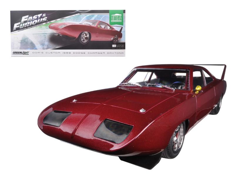 Greenlight 1:18 Custom 1969 Dodge Charger Daytona Diecast Model Car Blue 19019