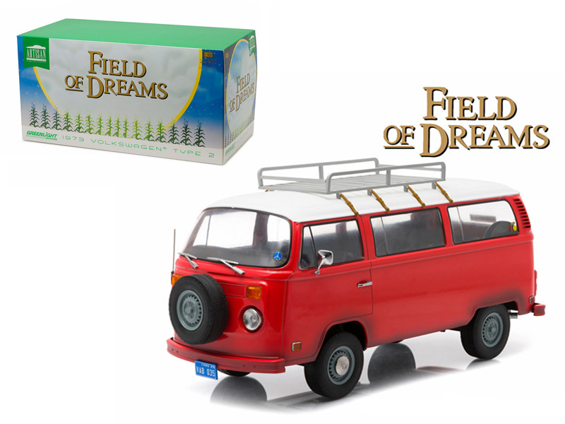 "1973 Volkswagen Type 2 Bus (T2B) ""Filed of Dreams"" Movie (1989) 1/18 Diecast Model Greenlight 19010"